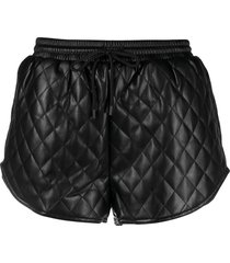 apparis percy quilted shorts - black