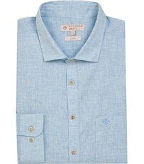 camisa dudalina manga longa fio tinto fil a fil masculina (vinho, 7)