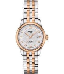 women's tissot le locle automatic diamond bracelet watch, 29mm