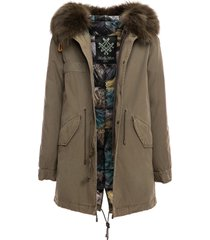 loden jazzy midi parka with padded lining