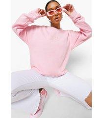 geborduurde oversized kerub sweater, pale pink