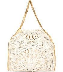 stella mccartney falabella crochet tote bag - neutrals