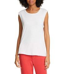 women's nili lotan cotton muscle tee, size x-large - white