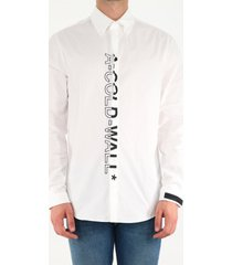 a-cold-wall white shirt with maxi vertical logo