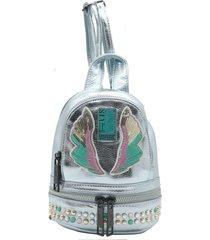 mochila celeste leblu mini