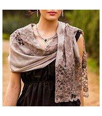wool blend shawl, 'infinite kashmir' (india)