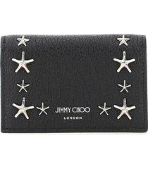 jimmy choo multipockets star studs card holder