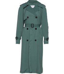 2nd kendall trenchcoat lange jas groen 2ndday