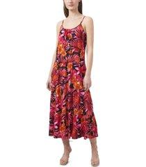 riley & rae tropical-print seamed maxi dress, created for macy's