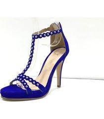 sandalia azul antoinette isis
