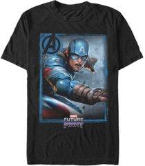 marvel men's captain america gamerverse avengers future fight poster, short sleeve t-shirt