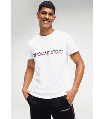 polera t-shirt logo driver blanco tommy sport