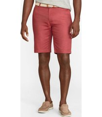 short linen and cotton bermuda rojo brooks brothers