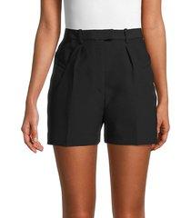 iro women's optik wool-blend shorts - black - size 34 (2)