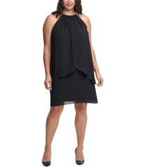 jessica howard plus size halter chiffon sheath dress