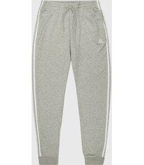 pantalón gris-blanco adidas performance essentials french terry