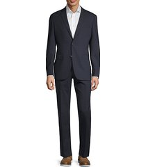 modern-fit plaid wool suit