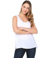 blusa blanca nautica