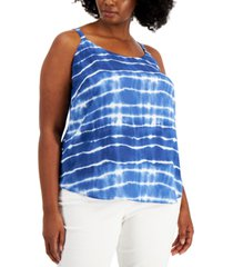 bar iii plus size tie-dye camisole, created for macy's