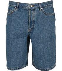 a.p.c. teddy denim shorts