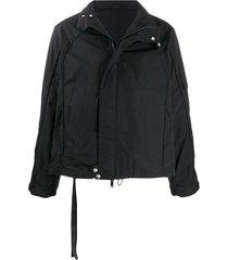 unravel project high-neck boxy-fit jacket - black