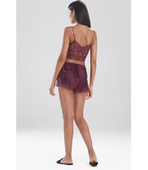 natori sleek lace shorts, women's, silk, size l