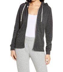 women's alternative adrian zip hoodie, size small - black