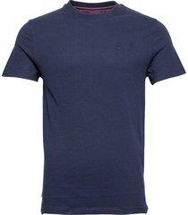 vintage logo emb tee t-shirts short-sleeved blå superdry