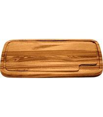 tábua para churrasco tramontina retangular grande em madeira muiracatiara com acabamento envernizado 49 x 28 cm 10065100
