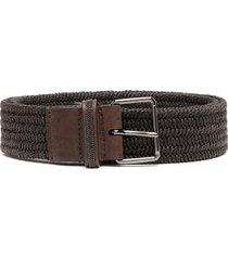 brunello cucinelli woven waist belt - brown