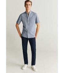 bedrukt katoenen regular-fit overhemd
