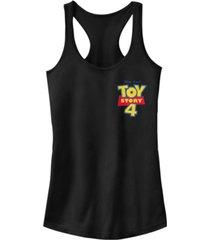 disney pixar juniors' toy story 4 chest color logo ideal racerback tank top
