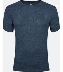 lounge t-shirt i viskos - melerad mörkblå