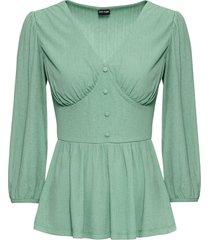 maglia in tessuto operato (verde) - bodyflirt