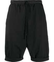 alchemy drop-crotch drawstring shorts - black