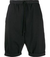 alchemy drop-crotch drawstring shorts - black