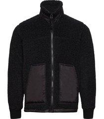 chunky fleece jeff sweat-shirts & hoodies fleeces & midlayers zwart mads nørgaard