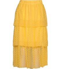 bilbao skirt knälång kjol gul modström
