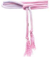 isabel marant wraparound tassel-detail belt - pink