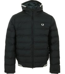 donsjas fred perry hooded insulated jacket