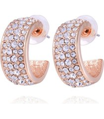 t tahari pave fire essential wedding band hoop earring