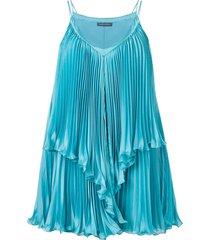 alberta ferretti pleated dress - blue