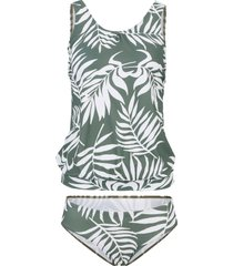 tankini oversize sostenibile (set 2 pezzi) (verde) - bpc bonprix collection