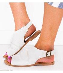 sandali punta aperta tinta unita