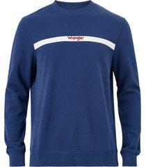 sweatshirt stripe logo sweat