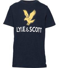 ss lyle eagle logo t-shirt bright white t-shirts short-sleeved svart lyle & scott junior