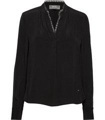 tarin blouse blouse lange mouwen zwart mos mosh