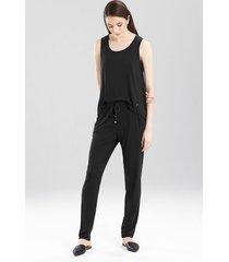 josie jersey kangaroo pants sleepwear pajamas & loungewear, women's, size l natori