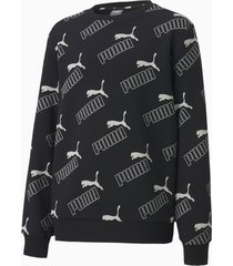 amplified sweater, zwart, maat 110 | puma