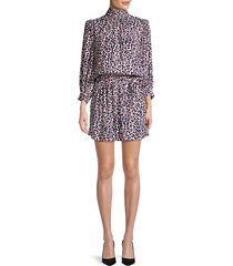 rivali leopard blouson mini dress